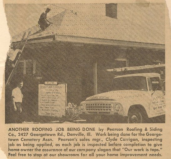 Roofing Company Newspaper Clipping