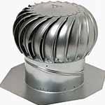 Roof mushroom turbine vent
