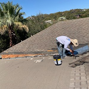 Roof Repair In Progress